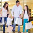 Happy family shopping — Stock Photo #22976794