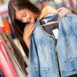 Stock Photo: Girl shopping for clothes