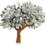 3D Dollar tree — Stock Photo