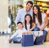 Beautiful family shopping — Stock Photo