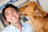 Dog love — Stock Photo