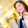 Beautiful shopping girl - Stock Photo