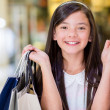 Happy girl shopping - Stock Photo