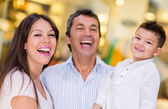 Family at a shopping center — Stock Photo