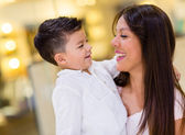 Filho e mãe feliz — Foto Stock
