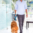 Mtaking dog to vet — Stock Photo #23294890