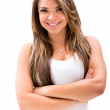 Beautiful woman with arms crossed — Stock Photo
