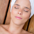 Woman at the spa — Stockfoto