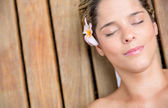 Beautiful relaxed woman — Stock Photo