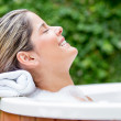 Relaxed womin bathtub — Stock Photo #23873195