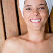 Woman in a spa — Foto de Stock
