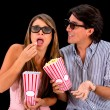 Couple at the movies — Stock Photo