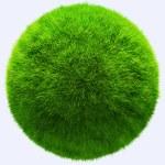 3D tráva míč — Stock fotografie