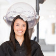 Stock Photo: Womat hair salon