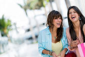 Shopping women having fun — Stock Photo