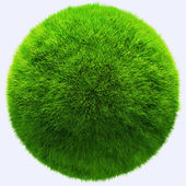 3D grass ball — Stock Photo