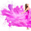 Woman in a paint dress — Stock Photo #24120203