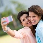 Friends taking a self portrait — Stock Photo #24120615
