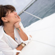 Woman in a boat — Stock Photo