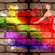 Graffiti of a woman — Stock Photo
