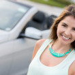 Woman going on a road trip - Stock Photo