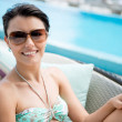 Stockfoto: Womenjoying her vacations