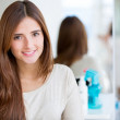 Beautiful woman at the hairdresser — Stock Photo