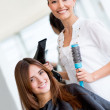 Stock Photo: Woman at the hairdresser