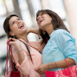 Women in a shopping spree — Stock Photo