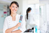Beautiful woman at the beauty salon — Stock Photo