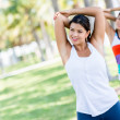 Women doing stretching exercises — Stock Photo