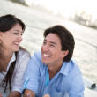 Happy couple sailing — Stock Photo #24705199
