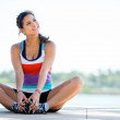 Thoughtful woman working out — Stock Photo #24705259