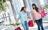Female shoppers having fun — Stock Photo