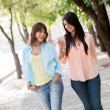 Girls using mobile phone — Stockfoto #24756421