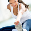 Stockfoto: Fit womstretching