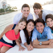 Group of in a boat — Stock Photo