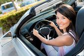 Female driver — Stock Photo