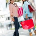 Happy shopping girls — Stock Photo #24848213