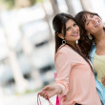 Beautiful shopping girls — Stock Photo #24848263