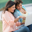 Girls using a laptop — Stock Photo #24848265
