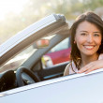 Beautiful female driver — Stock Photo #24848293
