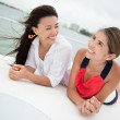 Girls on a boat — Stock Photo #24848309