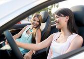 Mujeres en un viaje por carretera — Foto de Stock