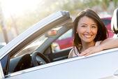 Beautiful female driver — Stock Photo
