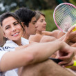 Stock Photo: Tennis players