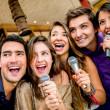 Group of singing — Stock Photo