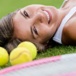 Beautiful tennis player — Stock Photo