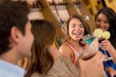 Friends having drinks — Stock Photo