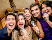 Group of singing — Stock Photo